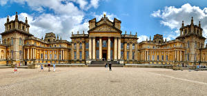 Fotos England Palast Blenheim Palace in Oxfordshire Städte