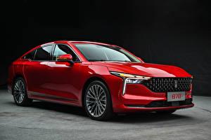 Bilder Rot Metallisch Chinesische FAW Bestune B70, 2020 Autos