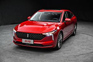 Bilder Rot Metallisch Chinesisch FAW Bestune B70, 2020 auto