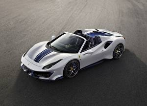 Wallpapers Ferrari White Roadster Pista Spider auto