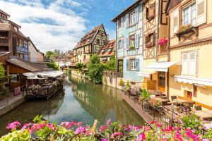 Bilder Frankreich Gebäude Kanal Colmar, Alsace
