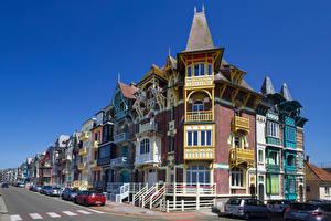 Desktop hintergrundbilder Frankreich Haus Straße Mers les Bains Städte