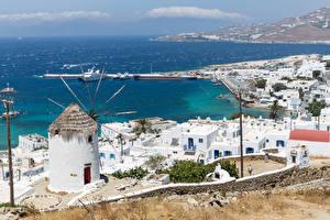 Bilder Griechenland Küste Gebäude Seebrücke Fournakia, Mykonos Städte