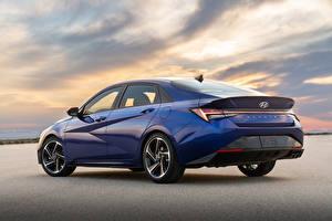 Fotos & Bilder Hyundai Blau Metallisch Elantra N Line CN7, 2020 Autos
