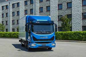 Wallpapers IVECO Trucks Blue EuroCargo 75-210, 2015