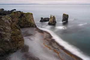 Fotos Island Küste Felsen Von oben Natur