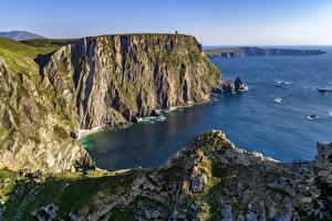 Hintergrundbilder Irland Küste Felsen Donegal Natur