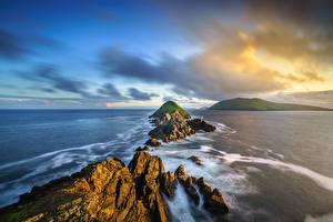 Desktop hintergrundbilder Irland Küste Wolke Felsen Kerry, Dunmore Head Natur