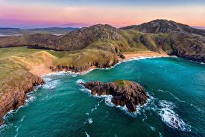 Hintergrundbilder Irland Küste Ozean Felsen Donegal, Boyeeghter Bay