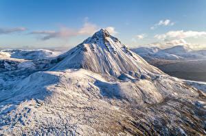Bilder Irland Gebirge Schnee Donegal, Errigal Mountain Natur