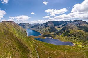 Hintergrundbilder Irland Gebirge See Wolke Ein Tal Doolough Valley Natur