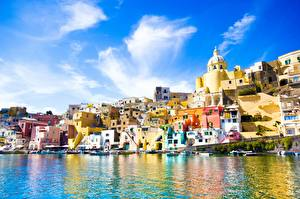Images Italy Building Sea Procida, Campania region, province Naples Cities