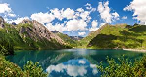 Bilder Italien See Gebirge Lake Morasco, Piemonte Natur