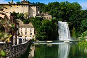 Image Italy Waterfalls River Isola del Liri, Liri river Cities