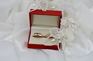 Обои Украшения Коробка Кольцо Золотой Свадьба Еда картинки