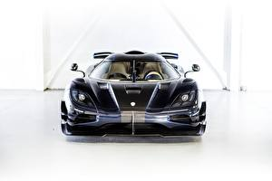 Bilder Koenigsegg Vorne Schwarz Agera One 1 Autos