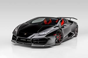 壁纸、ランボルギーニ、黑、メタリック塗、ロードスター、Huracan Spyder Mondiale-2 Edizione, 2020、自動車、