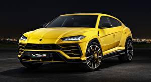 Desktop hintergrundbilder Lamborghini Softroader Gelb Metallisch Urus Concept, SSUV, 2017 auto