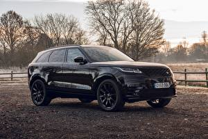 Hintergrundbilder Land Rover Schwarz Sport Utility Vehicle 2020 Velar R-Dynamic Black Limited Edition automobil