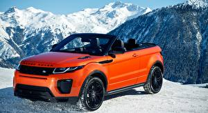 Bakgrunnsbilder Land Rover Rød Metallisk Kabriolet Evoque Convertible, HSE Dynamic, 2016 Biler