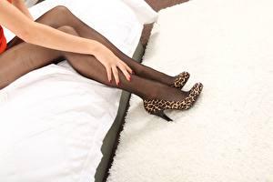 Wallpaper Legs Hands High heels Pantyhose young woman