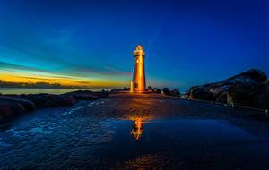 Hintergrundbilder Leuchtturm Morgendämmerung und Sonnenuntergang Vereinigte Staaten Bucht Kalifornien Monterey Bay, Walton Lighthouse, Santa Cruz Harbor Natur