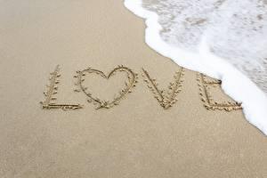 Hintergrundbilder Liebe Sand Text Herz Schaum Englisch Natur