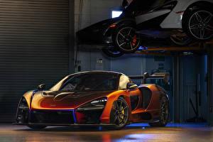 Sfondi desktop McLaren Arancione 2018 MSO Senna