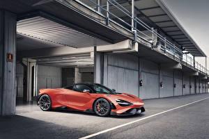 Bakgrundsbilder på skrivbordet McLaren Röd Metallisk 2020 765LT