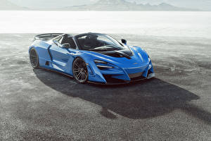 Pictures McLaren Light Blue Metallic Convertible 2020 Novitec McLaren 720S Spider N-Largo