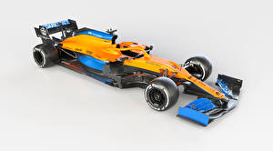Tapety na pulpit McLaren Formula 1 Tuning Szare tło 2020 MCL35 Sport