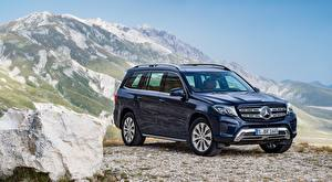 Wallpaper Mercedes-Benz Stones Black Metallic GLS-klass, 350d, 4MATIC, 2015 auto