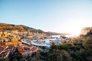 Hintergrundbilder Monte-Carlo Monaco Schiffsanleger Jacht Kreuzfahrtschiff Städte