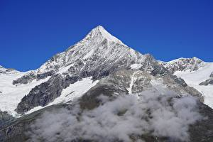 Fotos Berg Schweiz Wolke Schnee Weisshorn mountain, Bernese Alps, Canton Valais Natur