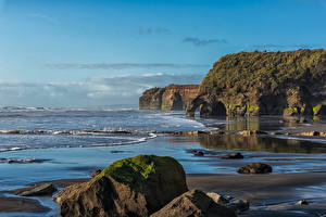 Picture New Zealand Coast Stones Crag Tanaraki Coast
