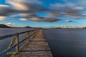 Pictures New Zealand Pier Lake Clouds Wharf Road, Lake Taupo
