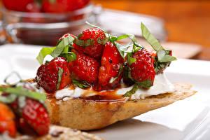 Desktop wallpapers Strawberry Varenye Food