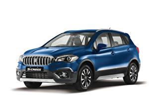 Bakgrunnsbilder Suzuki - Cars Blå Metallisk Hvit bakgrunn  Biler
