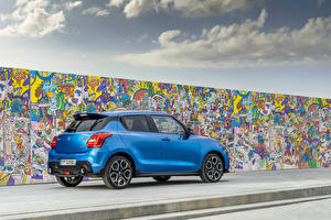 Wallpaper Suzuki - Cars Graffiti Light Blue Metallic Walls Swift Sport Hybrid, 2020 Cars