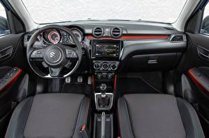 Bakgrunnsbilder Suzuki - Cars Salons Bil ratt Swift Sport Hybrid, 2020