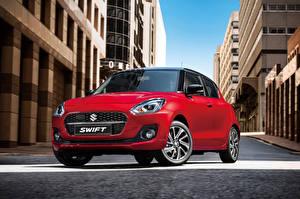 Bakgrunnsbilder Suzuki - Cars Rød Metallisk Swift Hybrid, 2020 automobil