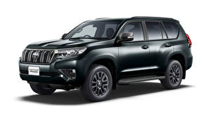 Pictures Toyota Sport utility vehicle White background Land Cruiser Prado TX, JP-spec, 2020 Cars