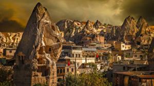 Bilder Türkei Haus Felsen Uchisar, Cappadocia Städte