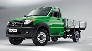 Wallpaper UAZ Trucks Green Standard, Profi, 2017 automobile