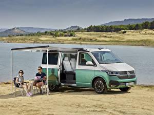 Hintergrundbilder Volkswagen Ein Van 2019-20 California Beach Worldwide