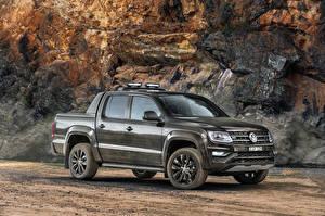 Bureaubladachtergronden Volkswagen Metallic Pick-up 2020 Amarok V6 580S