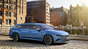 Wallpaper Volkswagen Light Blue Metallic Station wagon 2020 Arteon Shooting Brake Elegance Worldwide automobile