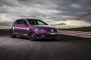 Bureaubladachtergronden Volkswagen Violet Metallic 2020 Golf R 5-door Final Edition