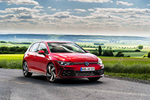 Bilder Volkswagen Rot Metallisch Golf GTI, 2020 auto
