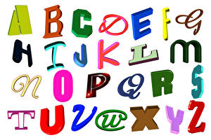 Wallpapers Word - Lettering English White background alphabet Food pictures images